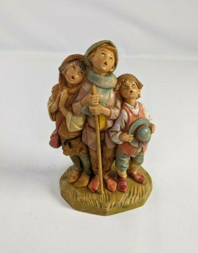 """Fontanini Depose Italy 5"""" Shepherd Choir Boys Figurine 1990 #261"""