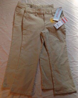 New! Lot Of Kids' School Uniform Pants Size 4, 2 Pairs, Beige, Cat & Jack Target