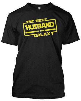 THE BEST HUSBAND IN THE GALAXY T-Shirt - Unisex Star Wars Parody Black, Navy
