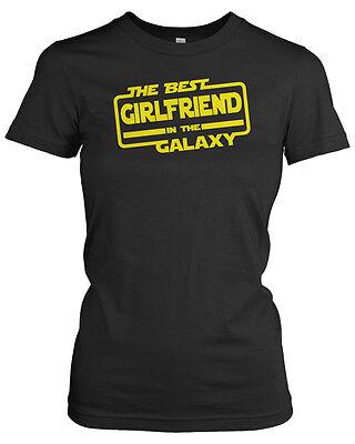 THE BEST GIRLFRIEND IN THE GALAXY T-Shirt - Ladies Star Wars Parody Black,