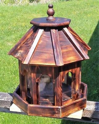 Beautiful Very large handmade cedar wood gazebo style bird feeder,  TBNUP