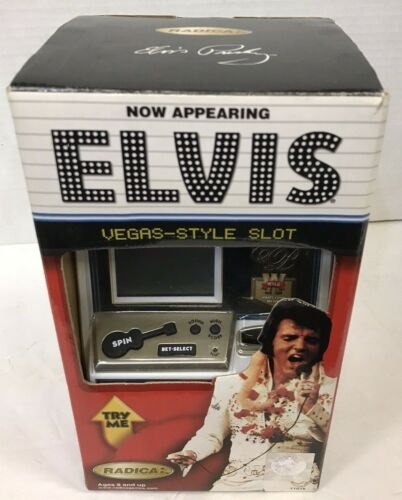 RADICA ELVIS PRESLEY SLOT MACHINE/ COIN BANK NEW IN BOX FREE SHIPPING!