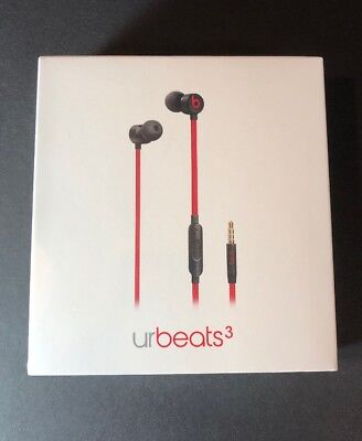 Beats by Dr Dre urBeats 3 Defiant Red Black Earphone [ 3.5mm Jack ] NEW