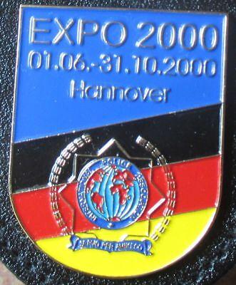 Brustanhänger  Verbandsabzeichen EXPO 2000 Hannover Polizei (R)