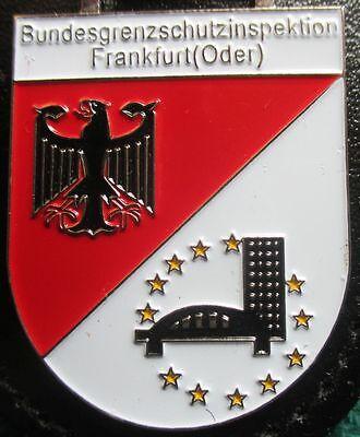 Brustanhänger Verbandsabzeichen Bundesgrenzschutzinspektion Frankfurt Oder (R)