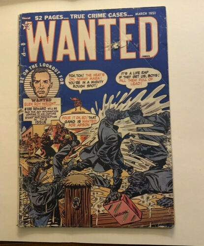 Wanted Comics 35 Good (GD) Seduction of the Innocent (SOTI)