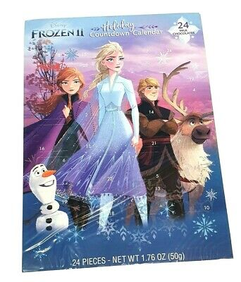 Disney Frozen II Advent Countdown Calendar Holiday 24 Chocolates Exp 2022