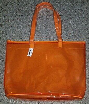 NWT Clinique Happy Orange Plastic Tote Bag