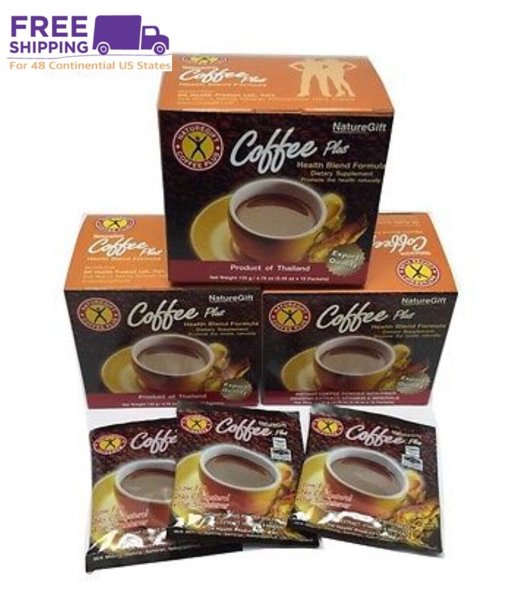 Naturegift Coffee Plus Weight Loss Diet. 10 box : 100 small bags