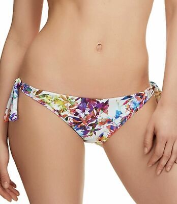 Fantasie Agra Bikini Brief Size XL 16 18 Low Rise Tie Side White Floral 6325 New