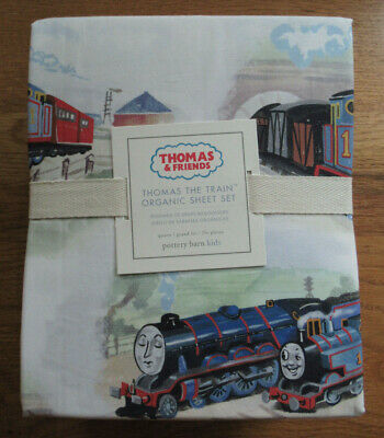Pottery Barn Kids Thomas the Train & Friends bedding sheet set size queen -new