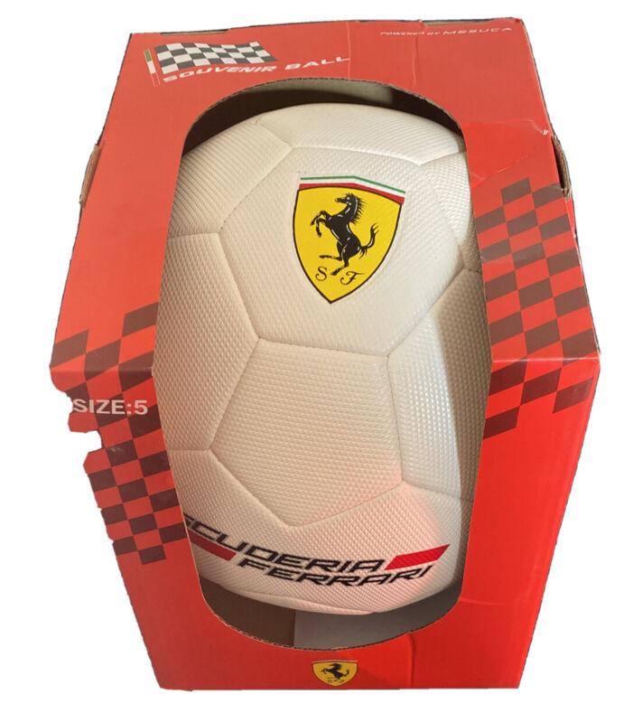 Official+PVC+Ferrari+white+Football+Soccer+Ball+F1+Motorsport+Present+Mancave