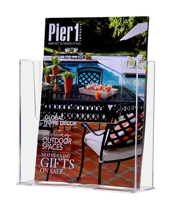 Clear Acrylic Countertop Brochure Holder For 7.5 Literature Lot Of 24