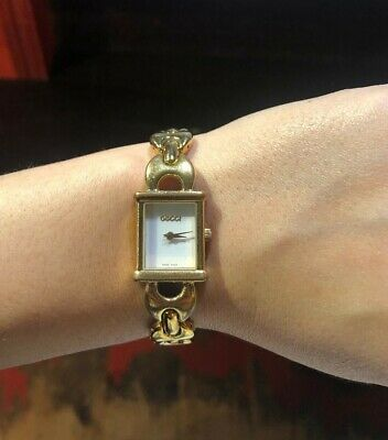 Vintage gold GUCCI bracelet watch
