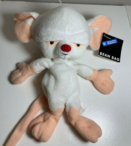 Pinky & The Brain Plush: Bean Bag Stuffed Animal, Warner Brothers Store Vintage