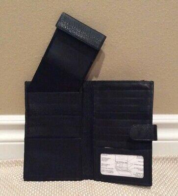 Brand New Samsonite Black Leather Checkbook/Organizer