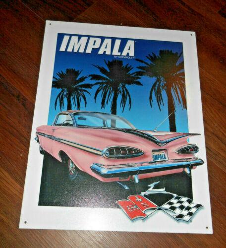 "1959 Chevrolet Chevy GM Impala Automotive Rare Metal/ Tin Sign 16"" x 12.5"" USA"