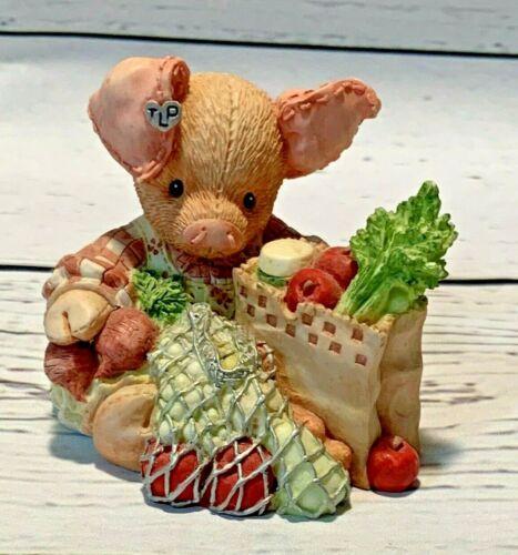"This Little Piggy Figurine 1994 Enesco ""This Little Piggy Went To Market """