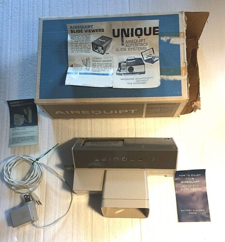 Vintage Airequipt Slide Viewer With Power Supply / also Works with Batteries