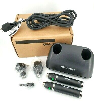 Welch Allyn Lithium Ion Charger Diagnostic Set Otoscope Ophthalmoscope