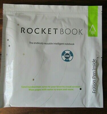 Rocketbook Core Smart Reusable Notebooks With Pilot Frixion Pen Black Letter Sz.