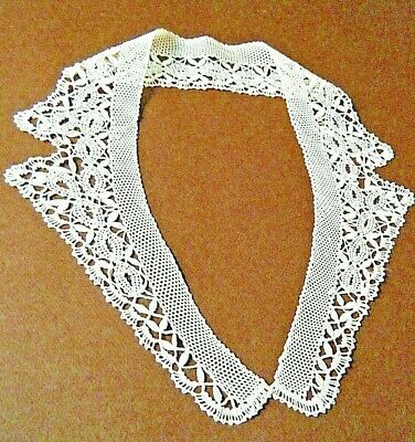 Wide Brown Boho Cluny Lace Choker Necklace