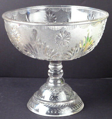 EAPG Compote Footed Bowl Centerpiece LARGE STUNNING Antique Glass  R