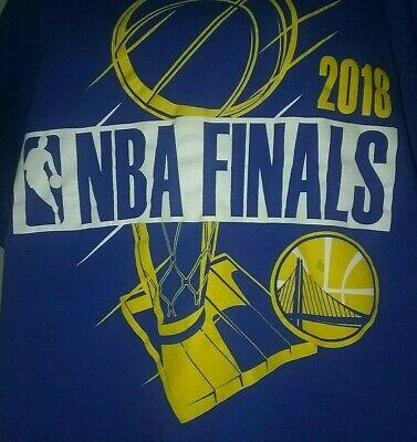 Golden State Warriors NBA 2018 FINALS Mens T Shirt Sz XL Fruit of the Loom blue