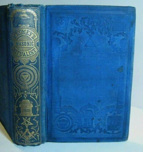 RARE ✅ 1879 ANTIQUE_MASONIC RITUALIST_MACKEY_ANCIENT OCCULT_ FREEMASONRY DEGREES