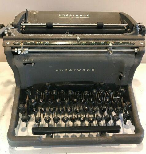 Vintage Underwood Cast Iron Typewriter Copyright 1895-1923 Art Deco Working