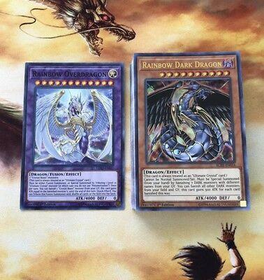 Yugioh Authentic Jesse Anderson Crystal Beast Deck - 41 Card-Rainbow OverDragon