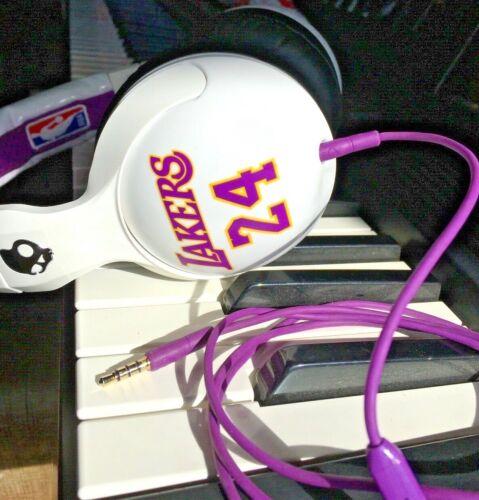 Skullcandy NBA Hesh LA Lakers - Kobe Bryant 24 White Headband Headphones w/cord