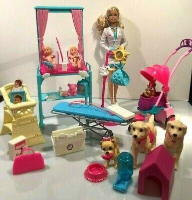 Lot Mattel Barbie doctor Doctor Scale w/ Twin 1973 Babies set Dogs,stroller