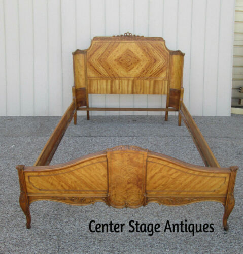 59083  SATINWOOD  French Country Full Size Bed with Rails