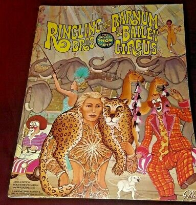 Big Brother Free Edition - VINTAGES 1977 RINGLING BROS PROGRAM WITH FREE BIG POSTER IN SIDE 107th EDITION