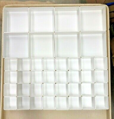 40-pba White 2 Sizes Organizer Trays Toolbox Dividers Cups Fit Lista Vidmar