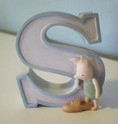 "Disney Michel & Co. Classic Winnie the Pooh Nursery Block Letter ""S"" Shoe"