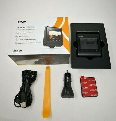Anker ROAV Dashcam C1-Pro 2K Resolution GPS/Wi-Fi Recording w SD Card R2120112