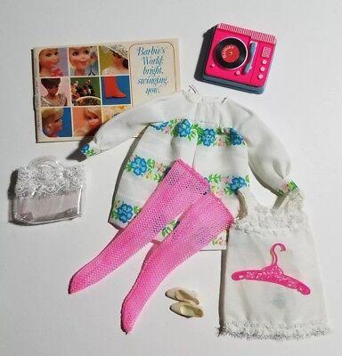 Vintage 1969 Barbie Francie # 1229 Sugar Sheers Outfit HTF Tote (2)