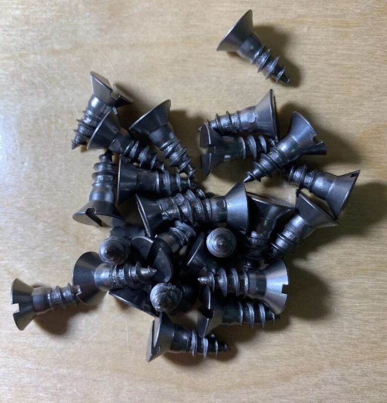 """Wood Screws Flat Head Slotted Steel #14x3/4"""" WS1434"""