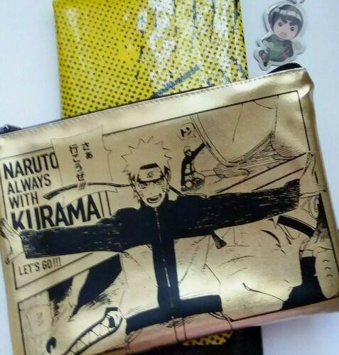 USA SELLER Shueisha Lottery Naruto Kurama Pouch Bag Set (Bag, Poster, Charm)