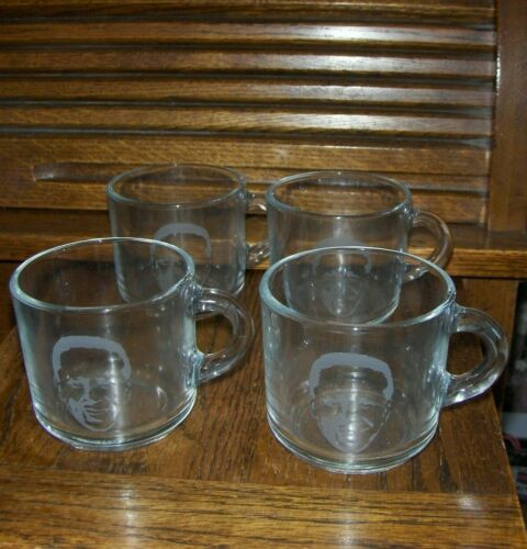Tom Peterson Collectible Etched Mugs - Portland, Oregon - Unused - Exceptional
