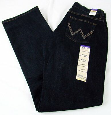 Wrangler Q-BABY boot cut Dark Dynasty Stretch Womens Jeans W