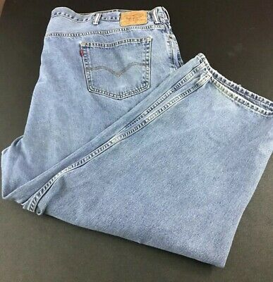 Levis 560 Jeans Mens Loose Fit Tapered Leg Light Wash Sz 58x30 (Measures 57x29)