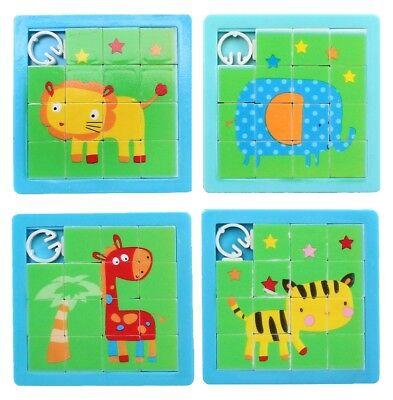 4 Motive - Puzzle Mitgebsel Kindergeburtstag Tombola (Geburtstag Puzzle)