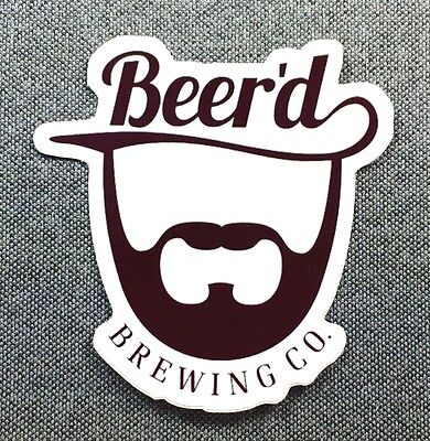 Beer'd Brewing Co Sticker 3in Brewery si