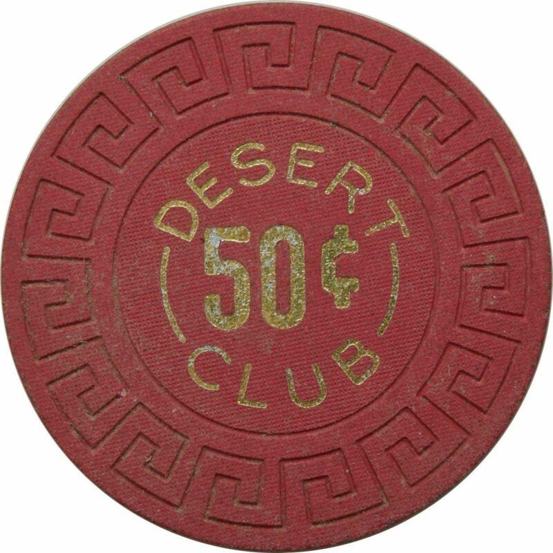 Desert Club Casino Gerlach 50 Cent Chip 1966