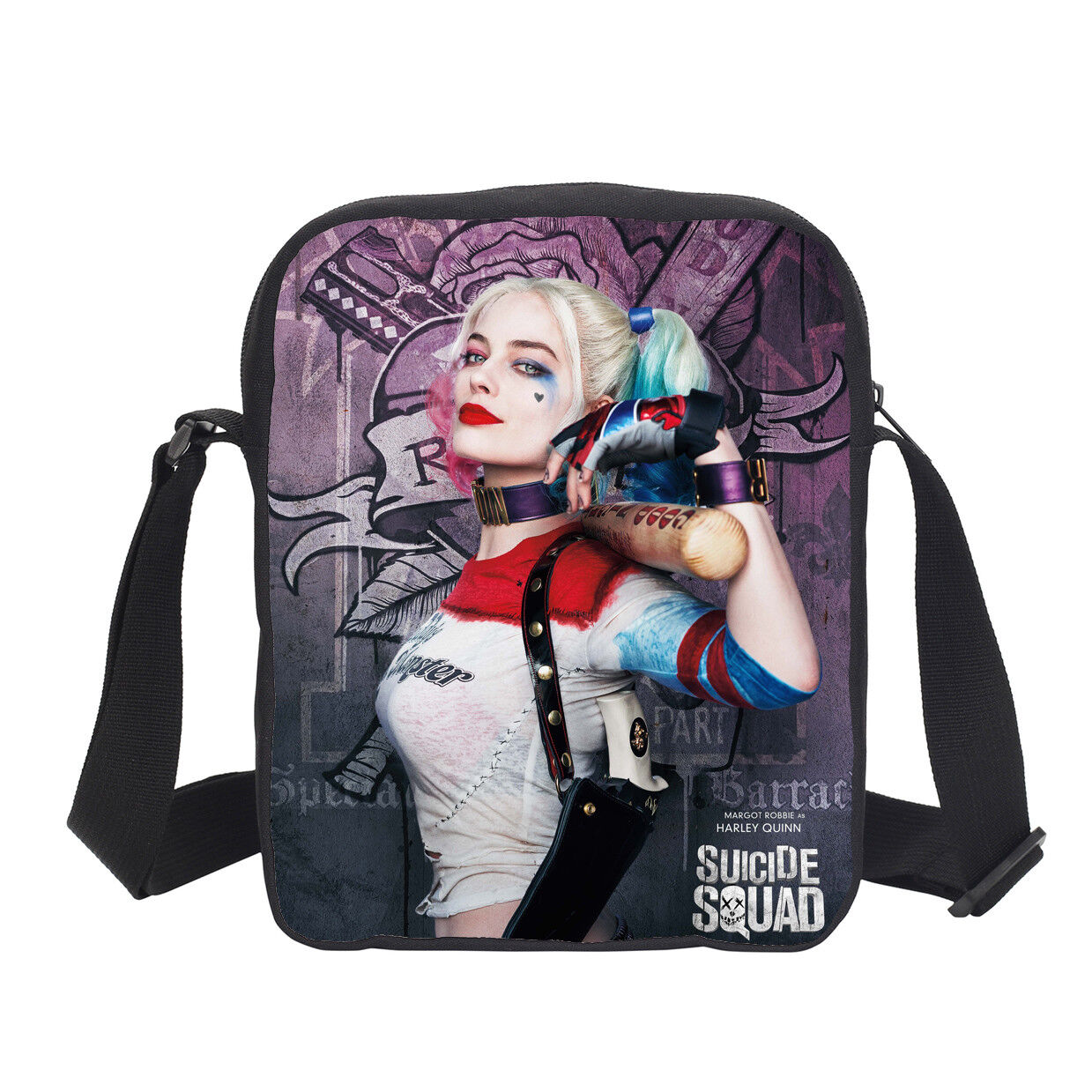 Details about  / Harley Quinn Girls School Backpack Shoulder Bag Lunch Box Crossbody Pen Bag Set