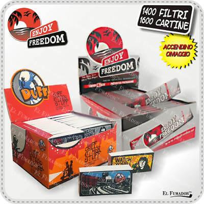 FILTRI CARTA DUFF + 1600 CARTINE ENJOY FREEDOM SILVER SLIM LUNGHE 50 LIBRETTI