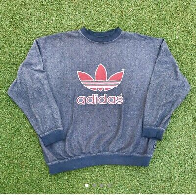 Mens Vintage 1996 Adidas Sweatshirt Large Damaged